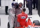 David Coulthard (McLaren) & Michael Schumacher (Ferrari) / David Coulthard congratulates Michael Schumacher with his victory