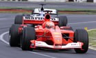 Michael Schumacher - Ferrari / Action in Sunday Race