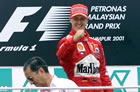 Michael Schumacher (Ferrari) / Michael is cheering on podium