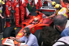 Michael Schumacher (Ferrari) / Driving in Parc Ferme after Sunday race victory