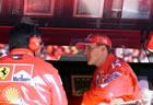 Michael Schumacher - Ferrari & Ross Brawn (Tech. Dir. Ferrari) / Saturday Qualifying, Sitting at pitwall talking to Ross Brawn