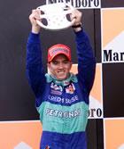 Nick Heidfeld(Sauber) / Holding his first trophy