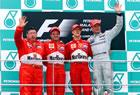 Michael Schumacher / Rubens Barrichello / Ross Brawn (Ferrari) & David Coulthard (McLaren) / Malaysian podium