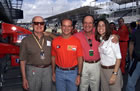 Rubens Barrichello(Ferrari) with his grandfather, father and girlfriend / Posing for the photo